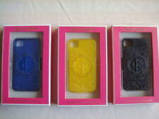 Juicy Couture, Lot of 3 Glitter Gel iPhone 4/4S cell phone cases.