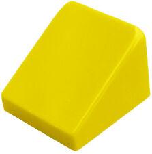 Lego 10 Pièce Tuiles en Béton Jaune 30 1 x1x 2/3 Bloc Incliné 54200 Neuf