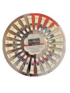 Acrylfarben Set mit 24 Tuben a 12 ml Acrylfarbe zum Malen + Mischpalette NEU