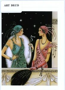 Unique/Nostalgic Art Deco 1920's style hand made greeting card.blank inside.3289