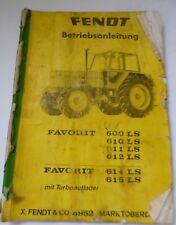 Fendt Schlepper Favorit 600 + 610 + 611 + 612 + 614 + 615 Betriebsanleitung