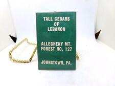 Vintage Ladies Pocket Mirror - Tall Cedars of Lebanon Johnstown PA - Masonic