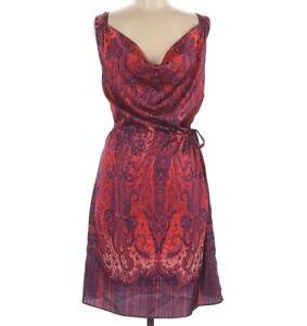 Calypso St. Barth Dress Sleeveless Burgundy Sheath Medium
