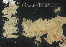 MAP OF WESTEROS GIANT POSTER (100x140cm) GAME OF THRONES HBO TV SERIES PICTURE