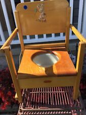 New listing Vintage Antique Oak Hill Collapsible Wooden Potty Chair Baby Mouse Graphics Usa