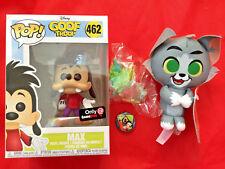 Goof Troop MAX #462 POP! + TOM Jerry PLUSH Gamestop Mystery Box Exclusive FUNKO