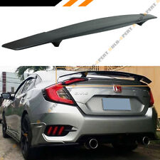 FOR 2016-18 HONDA CIVIC FC 10TH GEN R STYLE REAR TRUNK SPOILER WING W/ LED BRAKE
