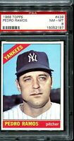 1966 Topps #439 PEDRO RAMOS New York Yankees PSA 8 NM-MT