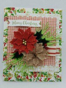 Handmade Christmas Holiday Greeting Card- ocbrandy Style keepsake quality u