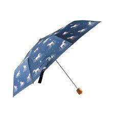 Azul Marino compacto de lluvia paraguas plegable Starlight Unicornio