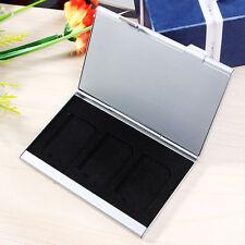 Speicherkarten Etui Tasche Case Box Hülle Speicher für 6 Karten Alu Card V9Z7