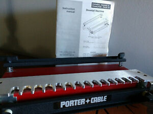 """Porter Cable 12"""" Dovetail Machine #4112 with 1/2"""" Half Blind Template + Manual"""