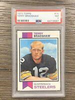 1973 Topps Football #15 Terry Bradshaw Steelers HOF PSA 7 NM