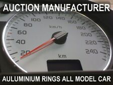 Renault Megane I ph II 1999-2002  Chrome Gauge Trim Dial Rings Polished Alloy x2