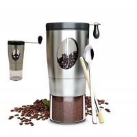 Manual Coffee Grinder Grinding Conical Burr Mill Bean Hand Portable Adjustable L
