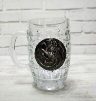 Targeryan dragon metal  logo beer half pint glass -1pcs