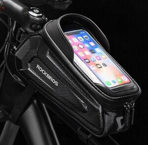 RockBros Hard Case Bike Bag Tube Bicycle Bags Front Beam Bag Mobile Phone Bag