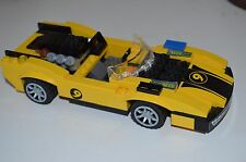Lego Race Car Number 9 V-8 RUN Unknown Yellow & Black Ford GT