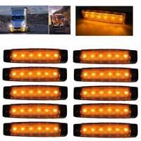 10pc DC12V 6 LED Seitenmarkierungsleuchte für LKW Anhänger Indikator Signallampe