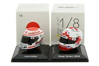 Spark 1/8 Jenson Button 2009 2011 Helmet Japanese British Grand Prix