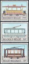 Belgium 1983 Trams/Trolley Bus/Horse Drawn/Public Transport/Rail 3v set (n31930)