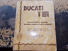 Manuale catalogo ricambi motore Ducati 250-350-450 cartaceo