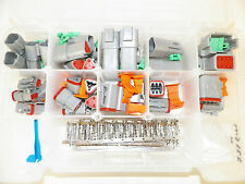 DEUTSCH DT SERIES GRAY CONNECTOR KIT 237 PC STAMPED terminal + pic tool