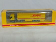 "DHL 7"" die cast semi truck and trailer with case"