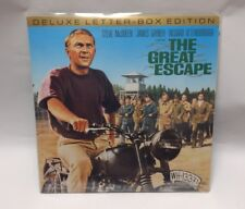 The Great Escape Deluxe Letter Box Edition Laser Disc Free Ship Steve McQueen