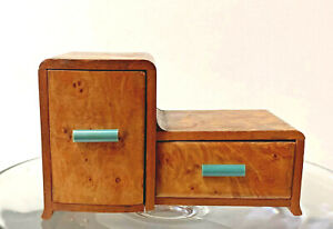 Vintage 1940s Wood Cabinet To Hold Cigarettes and Ash Tray