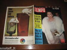 RIVISTA TEMPO 1961/19=QUEEN ELIZABETH=GINA LOLLOBRIGIDA=GIANCARLO BAGHETTI=