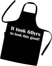 Novelty 60th Birthday Apron Excellent Gift Idea BBQ / Chefs / Cooks Apron-Tabard