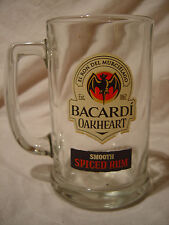 """New listing Set of 4 - 5"""" -Bacardi Oakheart Smooth Spiced Rum Collectible Stein Mug Glass a3"""