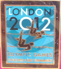 LONDON 2012 Olympic Games SWIMMING PIN Badge on Card Venue Pictogram Official