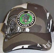 US ARMY Urban City Camo Ball Cap Hat Infantry Armor Cavalry Airborne Aviation