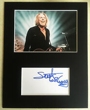SCOTT GORHAM Thin Lizzy HAND SIGNED Autograph Mounted With Photo GUITAR LEGEND