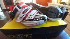 DMT Impact Carbon Road Cycling Shoes Wht/Sil/Rd Eu 37 or US 5
