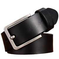 Top quality classic Mens Belt 100% Genuine Leather Belt Waist Size 105-160cm