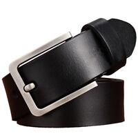 Top quality classic Mens Belt 100% Genuine Leather Belt Waist Size 105-160cm