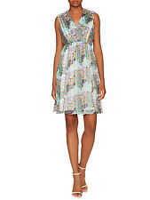 PAUL & JOE SISTER NWT 'Aphrodite' Drapey SILK Surplice Empire Waist S/36 FR $530