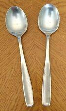 """2 Teaspoons Spoons WMF LINE Cromargan Vintage MCM 18/8 Stainless Germany 6 1/8"""""""