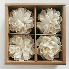 """Dahlia Sola Flower Cotton Wick Diffuser 3"""" Gift Set for Aroma Oil by Plawanature"""