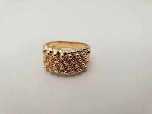 Sovereign Style Medallion Set Ring 4 size Gold Plated 18k IN HE UK BEST SELLER