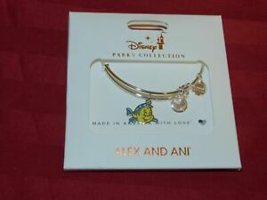 Disney Parks 2020 Alex and Ani The Little Mermaid Flounder Silver Tone New