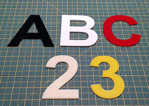 Laser cut 2D Perspex Acrylic Letters and Numbers, size of each 100mm High