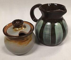 Vintage Australian Pottery by Beryl Armstrong & June Dyson size of Lidded Bowl