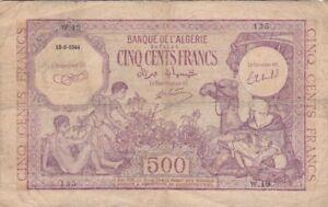 ALGERIE : RARE 500 FRANCS 1944 - P.95