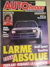 AUTO HEBDO: n°480: 18/07/1985: AUDI SPORT QUATTRO - ALAIN PROST - CX - RITMO III