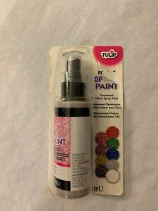 Tulip Fabric Spray Paint Pink Diamond Glitter 4 OZ  New Sealed