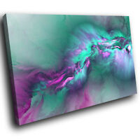 AB1495 Teal Pink Grey Funky Modern Abstract Canvas Wall Art Large Picture Prints